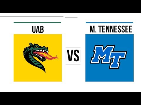 2018 Conference USA Championship UAB vs Middle Tennessee Full Game Highlights
