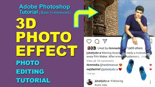 Instagram Viral Photo Editing Tutorial  In Photoshop | Edit 3D Instagram Photo Effect | Insta pic