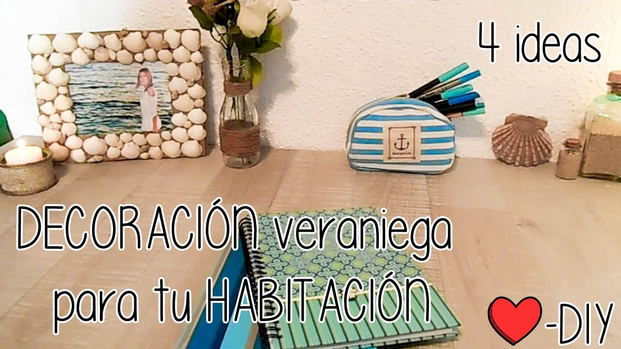 4 ideas para decorar tu cuarto en verano diy youtube for Disenar tu habitacion online gratis