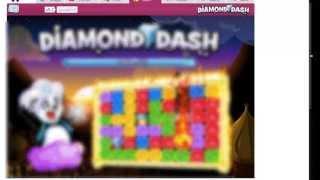 تهكير لعبة دايمن داش وايقاف الوقت Diamond Dash on Facebook