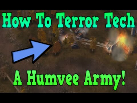 Terror Tech Tutorial 2 Humvees! CNC:Zero Hour