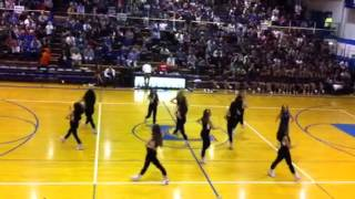LHS Poms Homecoming routine