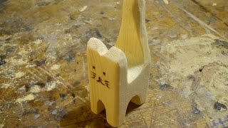 Wooden Scroll Saw Cat Toy