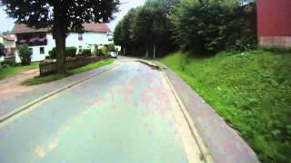 abfahrt siedelsbrunn wald michelbach bei radtour durch den odenwald
