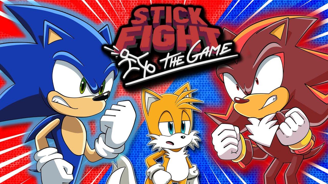 SONIC VS SHADOW SHOWDOWN! | Tails Sonic & Shadow Play Stick Fight