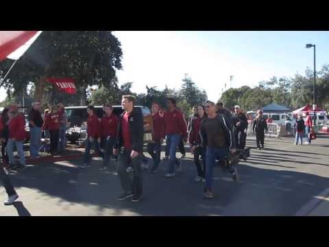 "Stanford Football ""The Walk"" to Stanford Stadium vs. Cal ""Big Game"" 2013 Stanford California"