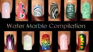 Nail Art Compilation   Water Marble March 2016