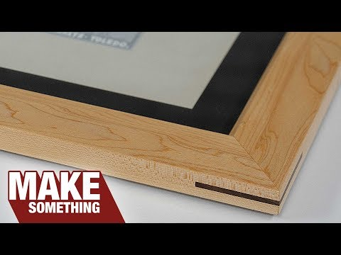 Step by instructions on how to make a wooden picture frame