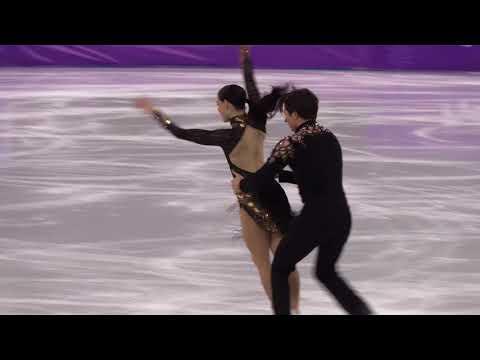 2018 Winter Olympics figure skating ice dance Short : Canada (VIRTUE Tessa / MOIR Scott)