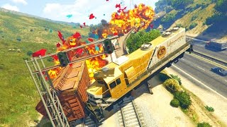 GTA 5 Mods - STOPPING THE TRAIN! (GTA 5 PC Mods)