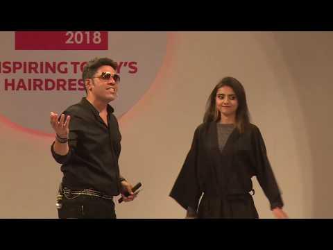 Inspired look by celebrity hair stylist - Savio John Periera at Salon India 2018.