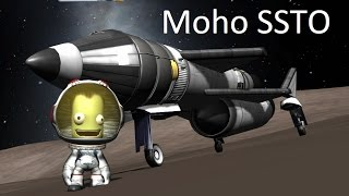 Stock Moho SSTO - no refueling or mining - KSP