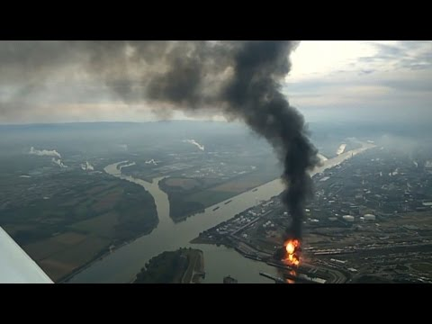 Aerial Footage Shows A Fireball Shooting Up From BASF Plant In Ludwigshafen