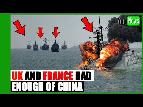 UK and France prepare to take on Beijing in disputed waters clash.