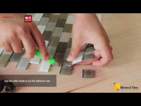 DIY Peel & Stick Glass Tile Backsplash Kit
