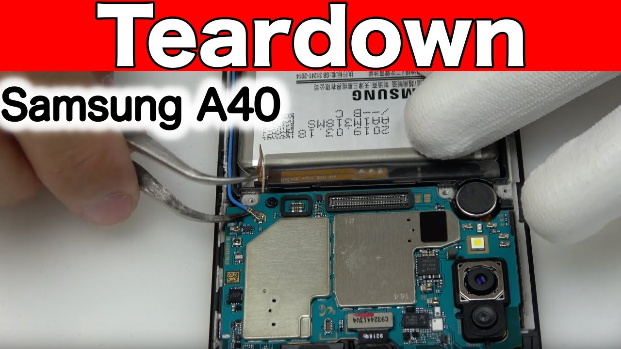 Samsung A40 Teardown & Disassembly &  Repair Video Guide