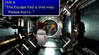 Final Fantasy VII walkthrough part 27 (ff7) Flying into outer space (long game play)