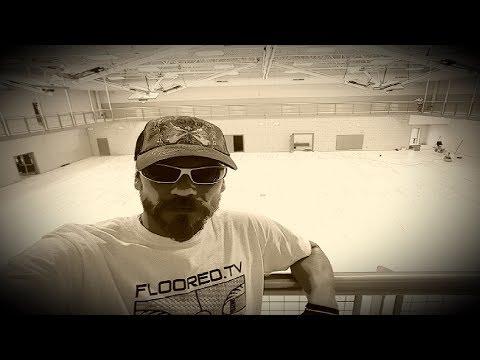 South Jordan Middle School gym floor installation. (2 of 3)