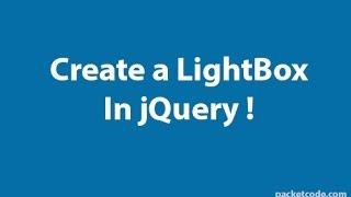 видео lightbox image jquery