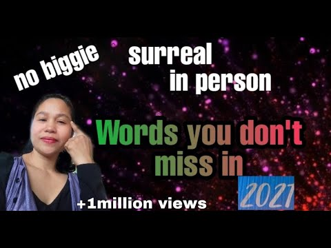 Words you should not miss in 2021/New English Words Trending In 2021