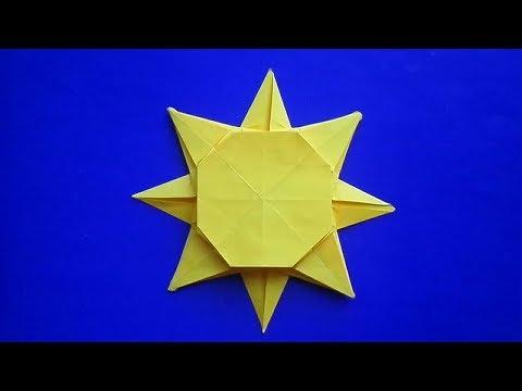 Оригами схема солнце