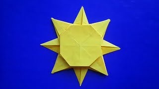 оригами солнце, оригами солнце из бумаги // origami paper sun