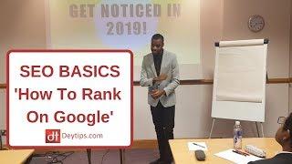 SEO Basics | SEO For Beginners | SEO Tips To Rank On Google