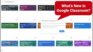 What's New in Google Classroom | Jan 2019