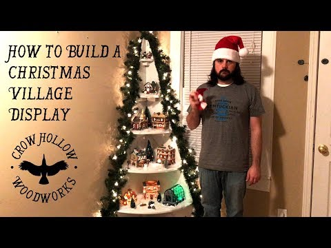 How to Build a Christmas Village Display Stand - DIY Tutorial