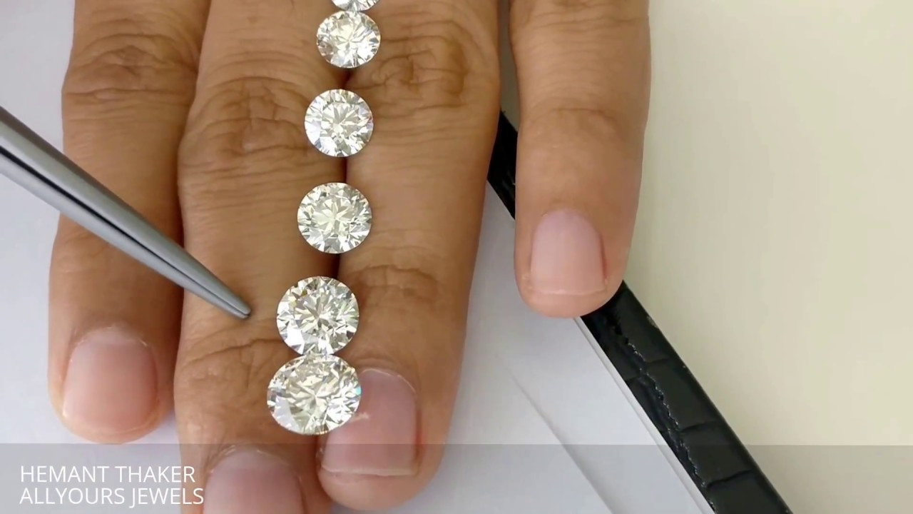 Round Shape Diamond Size Comparison With Mm Size 1ct