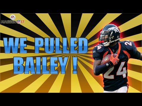 WE PULLED CHAMP BAILEY! (PRO PACK OPENING) - MADDEN 17 ULTIMATE TEAM
