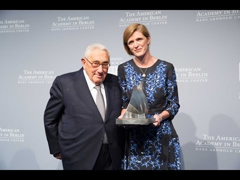 The 2016 Henry A. Kissinger Prize