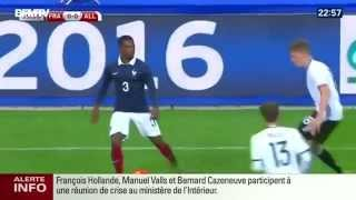 Moment of Paris attack explosions during France - Germany football match