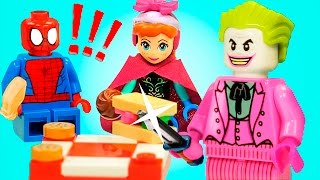 lego kids story a good job joker spiderman elsa batman olaf lego in real life