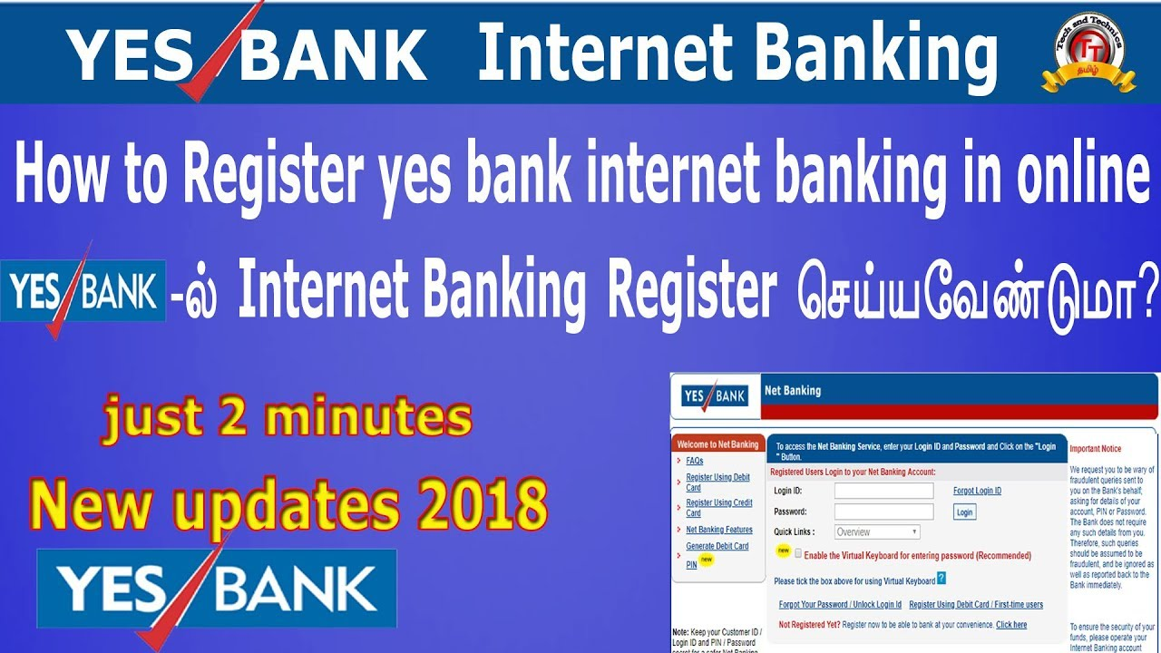 yes bank internet banking sign up