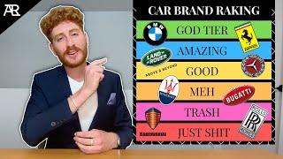 Car Expert Ranks The Top 25 Luxury Car Brands