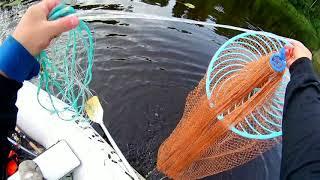 Кастинговая сеть пробуем с лодки