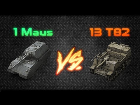 "[13 T82] SHOOTING AT [1 MAUS] // World or Tanks Blitz ""Faceoff"""