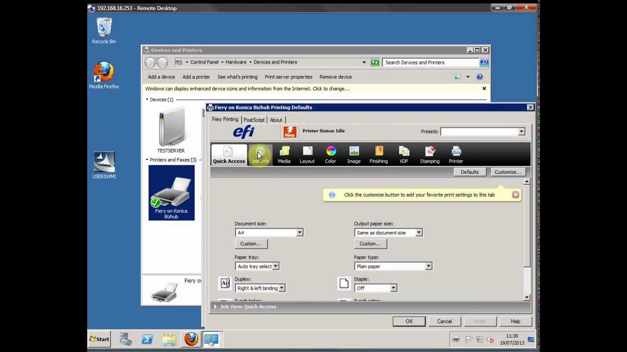 Fiery Driver Installation On Konica Bizhub Youtube