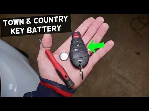 CHRYSLER TOWN AND COUNTRY KEY FOB BATTERY REPLACEMENT. KEY NOT WORKING FIX