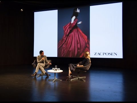 Zac Posen with Kinvara Balfour at the V&A