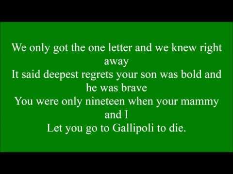 Gallipoli with lyrics