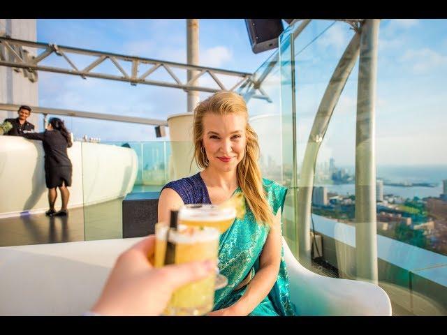Amazing Mumbai, India rooftop Bar! | AER Four Seasons | India Vlog