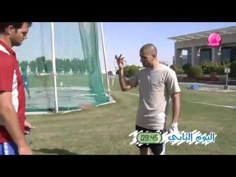 Talented arabic tv presenter sport program-قناة الجزيرة- أنت بطل- رمي المطرقة و رمي الرمح
