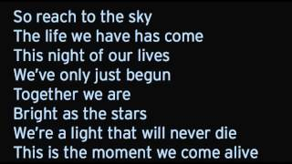 the moment we come alive red lyrics