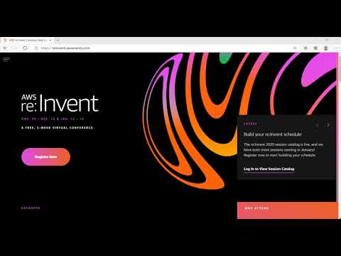 AWS re:Invent 2020 | How To Register Step by Step Video