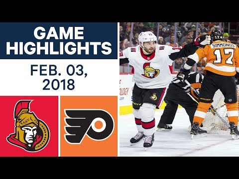 NHL Game Highlights | Senators  vs. Flyers - Feb. 03, 2018