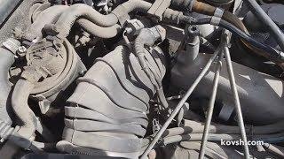 Полностью забитый воздушный фильтр на Audi A6 2.5TDi