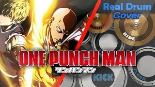 【ワンパンマン】One Punch Man Season 2 Opening 『静寂のアポストル/Seijaku no Apostle by JAM Project』 Real Drum Cover