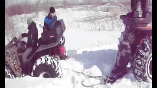 квадроцикл Сокол застрял в снегу 130316(www.Pilot54.ru., 2016-03-15T18:25:30.000Z)